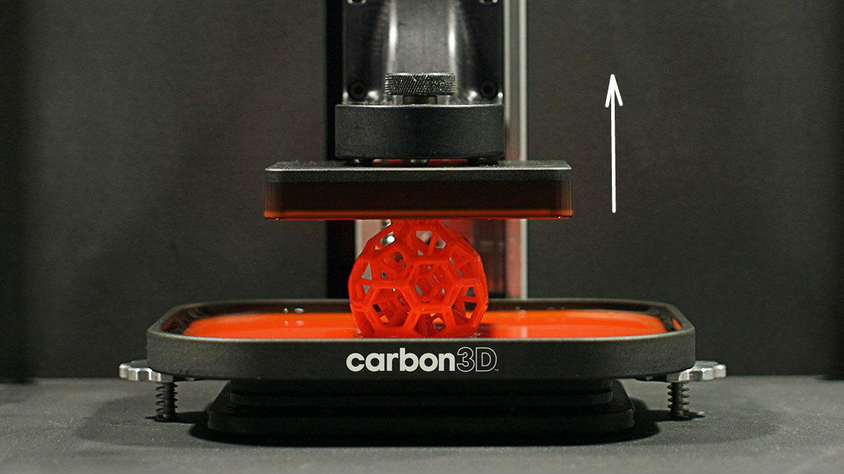 3D принтер Clip в действии